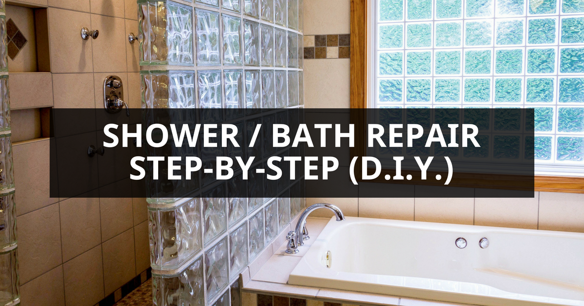 How To Repair A Shower Bath Step By Step Your Plumber Guys